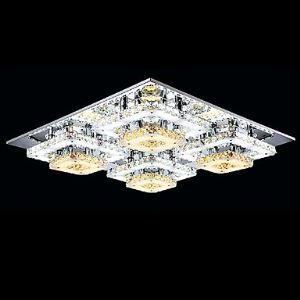 (Entrepôt UE) Plafonnier , 4 Lampe , Simple Moderne Cristal MS-86350