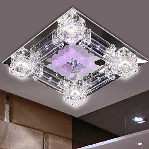 (Entrepôt UE) LED Moderne K9 Cristal lustre avec 4 Ampoules 220V