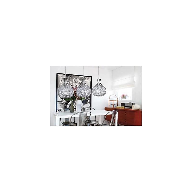 lustre 3 lampes led en m tal pour salle manger. Black Bedroom Furniture Sets. Home Design Ideas