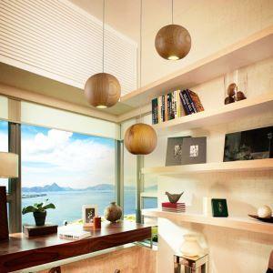 Lustre en bois à 3 lampes décoratif pour salon