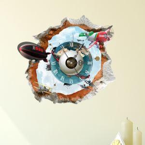 (Entrepôt UE) Moderne Simple Créative 3D Planète Mystérieuse Silencieuse Horloge Murale