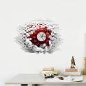 Horloge Murale Créative 3D Autocollant Mural Silencieuse