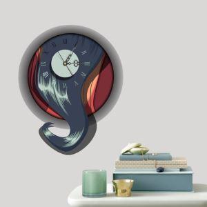(Entrepôt UE) Moderne Simple Créative 3D Abstrait Autocollants de Mur Horloge Murale Silencieuse