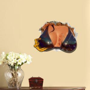 (Entrepôt UE) Moderne Simple Créative 3D Seins Sexy Autocollants de Mur Horloge Murale Silencieuse