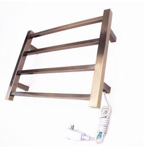 Support de Porte-serviettes Chauffage Electrique 40W thermostatique Bronze en Acier Inoxydable