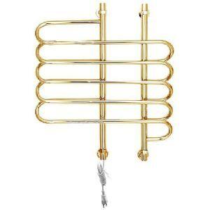 Support de Porte-serviettes Chauffage Electrique 80W thermostatique Or en Acier Inoxydable