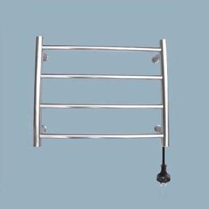Support de Porte-serviettes Chauffage Electrique 40W thermostatique Argent en Acier Inoxydable pour salle de bain