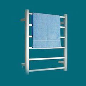 Support de Porte-serviettes Chauffage Electrique 60W thermostatique Argent en Acier Inoxydable pour salle de bain