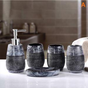 Accessoires de salle de bain 5 set en résine