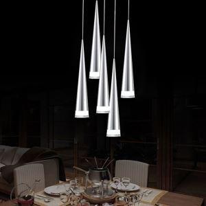 Suspension LED 5 lumières Acrylique pour salle à manger