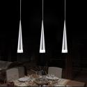 Lustre Suspension LED à 3 lampes en acrylique H32.5cm pour salle à manger restaurant