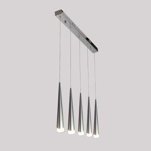 (Entrepôt UE)  LED 5 Têtes Lustre Suspension en forme d'anneau Moderne Simple Acrylique Salon Chambre à coucher