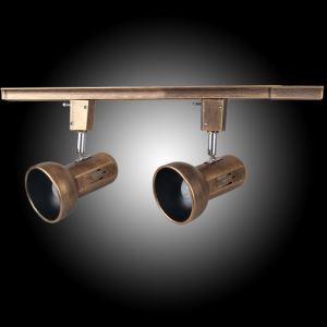 (Entrepôt UE) Projecteur Style Américain Rétro Salon Chambre à coucher à 2 lampes peinture au pistolet d'éclairage