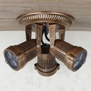 (Entrepôt UE) Projecteur Lampe de plafond Style Américain Rétro vitrines de magasin de vêtements 3 têtes peinture au pistolet d'éclairage
