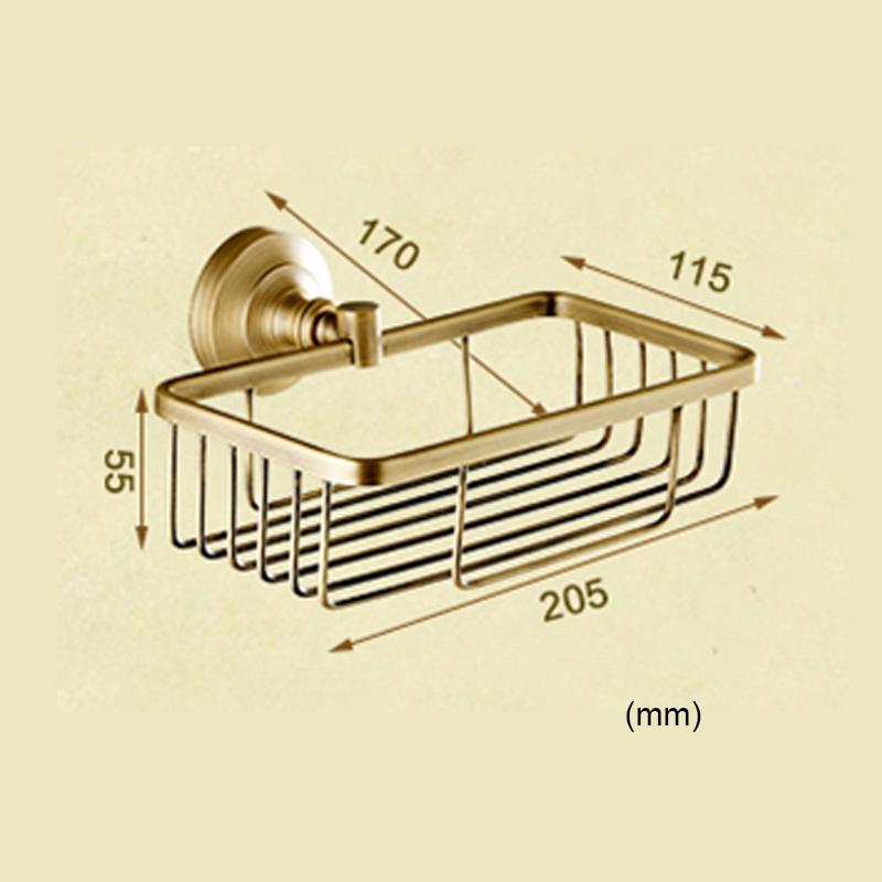 Style européen rétro accessoires salle de bain en cuivre porte-papier