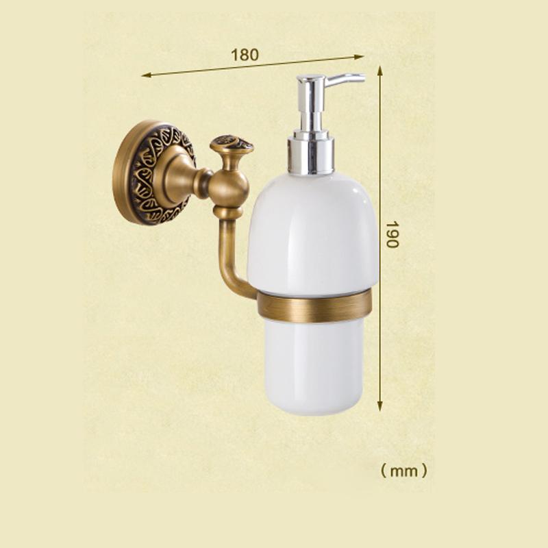 Style européen rétro accessoires salle de bain en cuivre Désinfectant pour les mains porte-gobelets fixé au mur