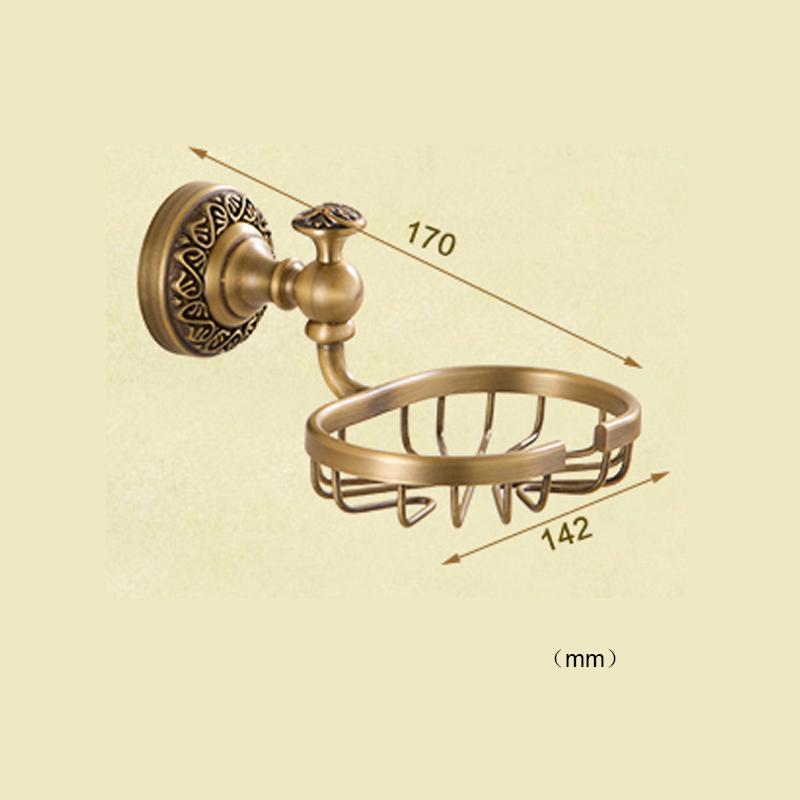 Style européen rétro accessoires salle de bain en cuivre porte-savon