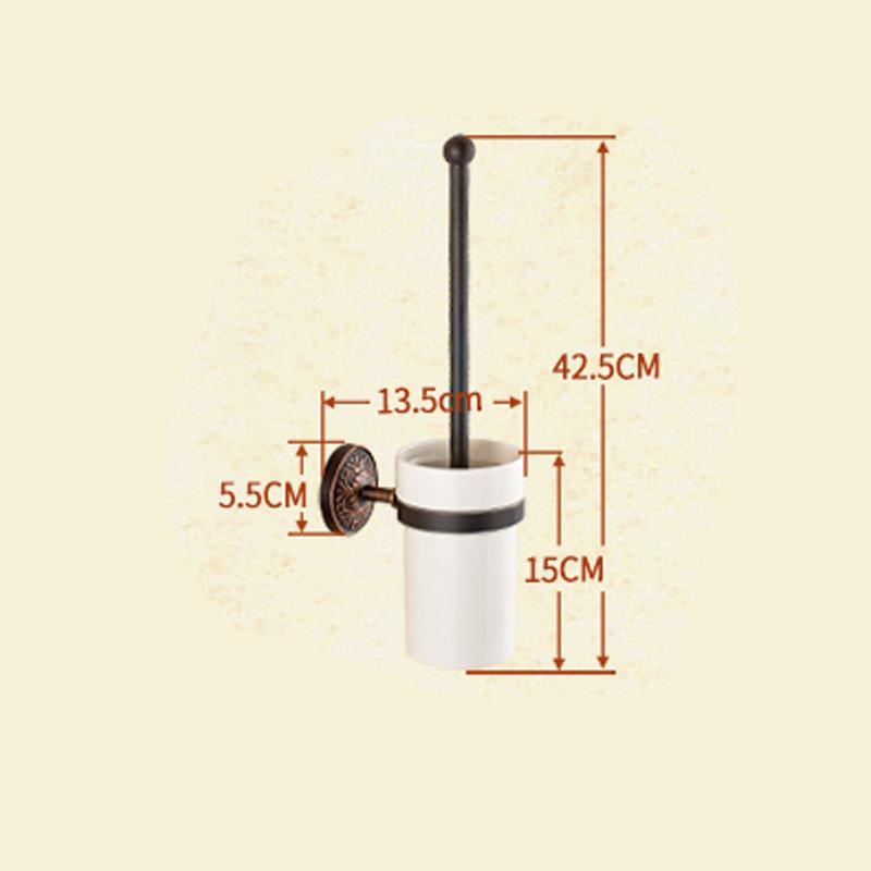 Style européen rétro Accessoires de salle de bain en cuivre support de brosse de toilette