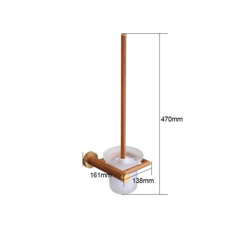 Style européen simple Accessoires de salle de bain en bois support de brosse de toilette