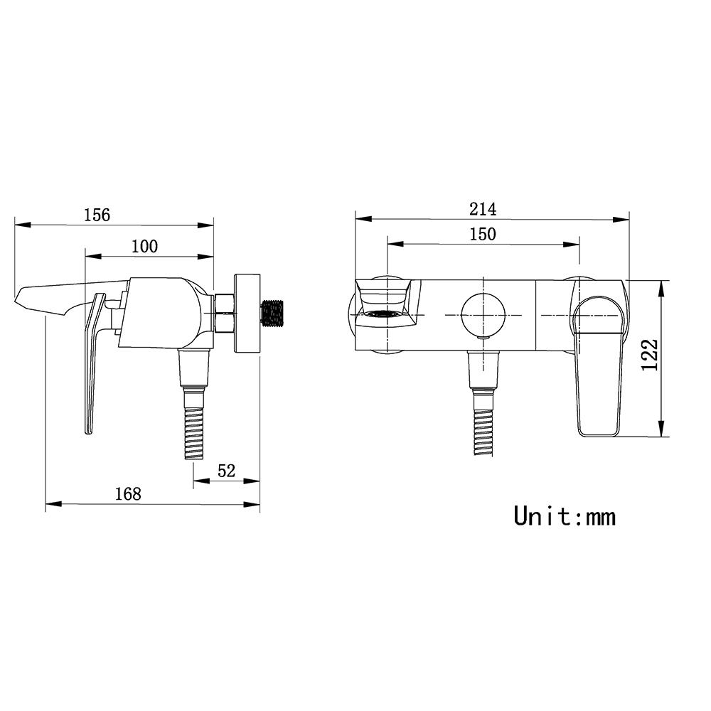 (Entrepôt UE)Mitigeur Robinet de douche blanc style moderne simple pour salle de bains 3 trous poignée d'or