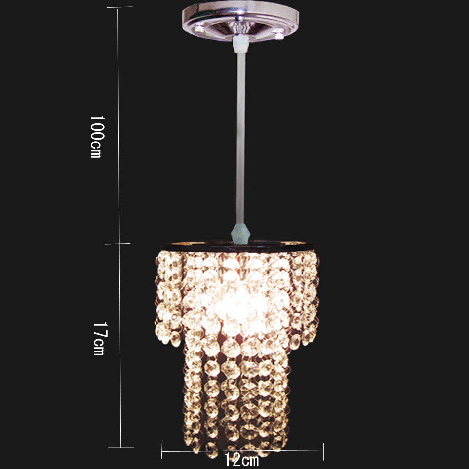 mini Moderne chromé cristal suspension double