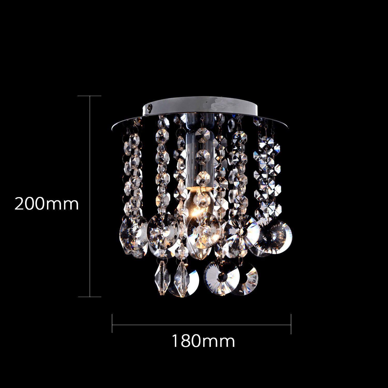 mini Moderne chromé cristal plafonnier K9 cristal Double maille cristal