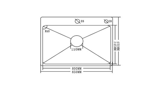 Moderne évier à encastrer en acier inoxydable 304,  1 bac de renforcement fait à la main avec panier de vidage et distributeur de savon pour cuisine HM6545